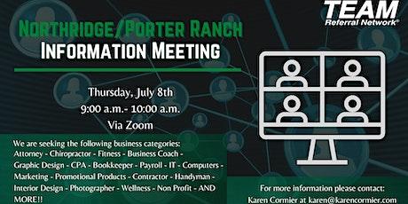 TEAM Northridge/Porter Ranch Information Meeting tickets