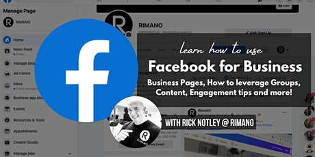 Facebook for Business - Business Pages, Groups, Engagement tips + more! tickets