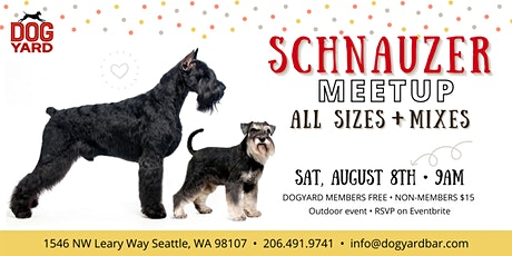 Schnauzer Meetup at the Dog Yard tickets