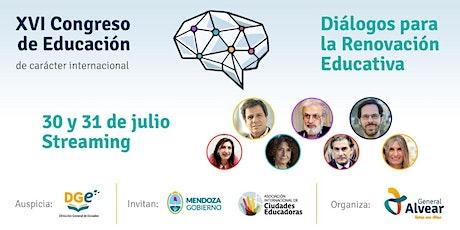 """XVI Congreso de Educación - """"Diálogos para la Renovación Educativa"""" entradas"""