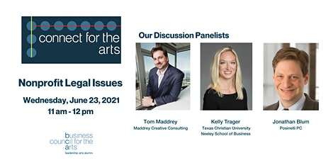 Connect for the Arts : Nonprofit Legal Issues tickets