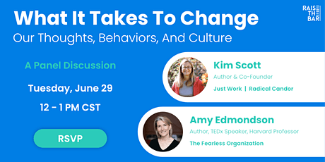 What It Takes to Change (a panel discussion) tickets