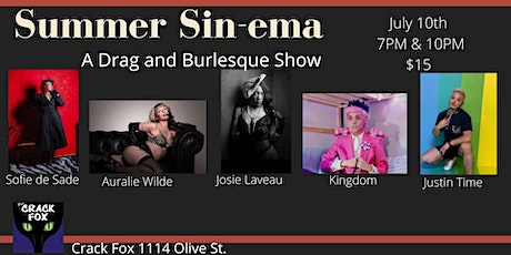 A Night of SINema - Drag & Burlesque Show at The Crack Fox tickets