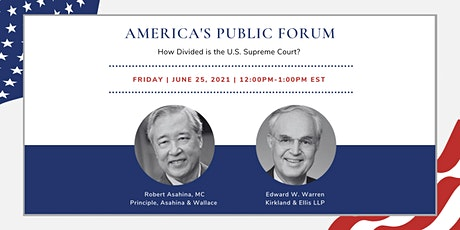 America's Public Forum: How Divided is the U.S. Supreme Court? tickets