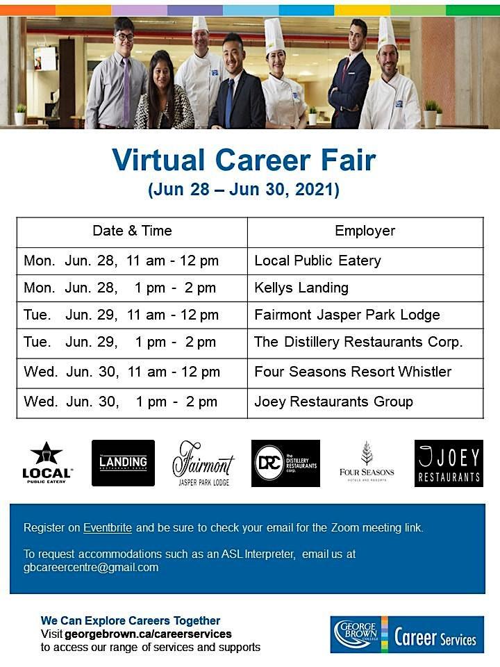 George Brown College - Virtual Career Fair: Local Public Eatery image