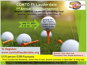 COMTO Ft. Lauderdale 1st Annual Golf Tournament tickets