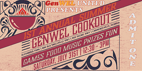 1st Annual Genwel Summer Cookout! tickets
