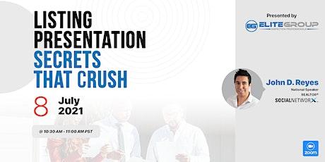 Listing Presentation Secrets that Crush tickets