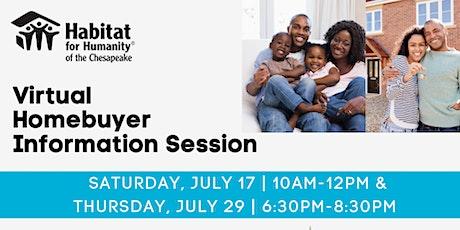 Habitat Chesapeake's Homebuyer Information Session | JULY 2021 tickets