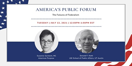 America's Public Forum: The Failures of Federalism tickets