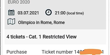 Euro 2020 quarter final tickets