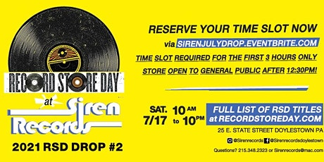 Record Store Day Drop #2 2021 Reservations! tickets