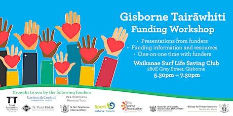 Gisborne Tairāwhiti  Funding Workshop tickets
