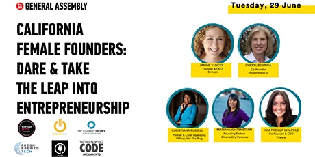 California Female Founders: Dare & Take The Leap Into Entrepreneurship tickets