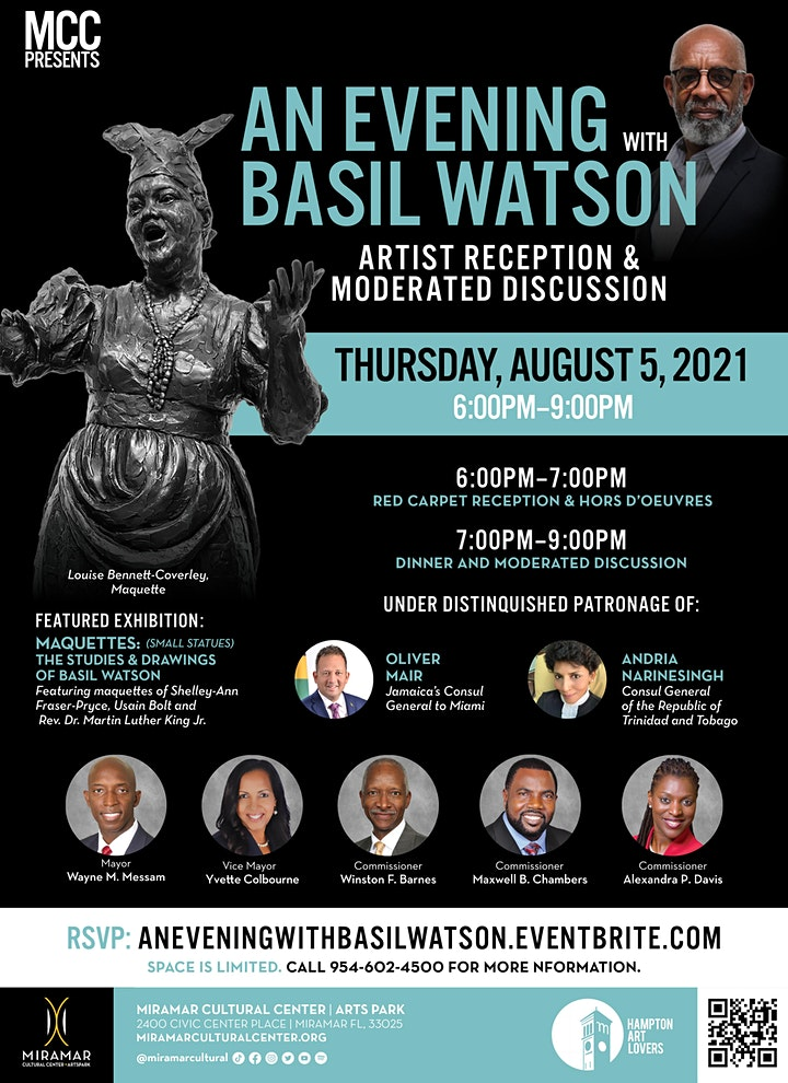 An Evening with Basil Watson - Reception & Moderated Discussion image