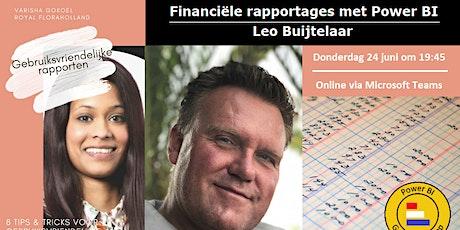 Financiële rapportages met Power BI tickets