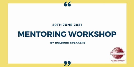 Mentoring Workshop tickets