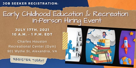 Early Childhood Education & Recreation - In Person Hiring Event tickets