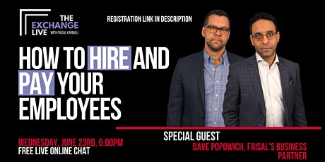 Copy of The Exchange Live [ONLINE] -  How To Hire and Pay Your Staff tickets