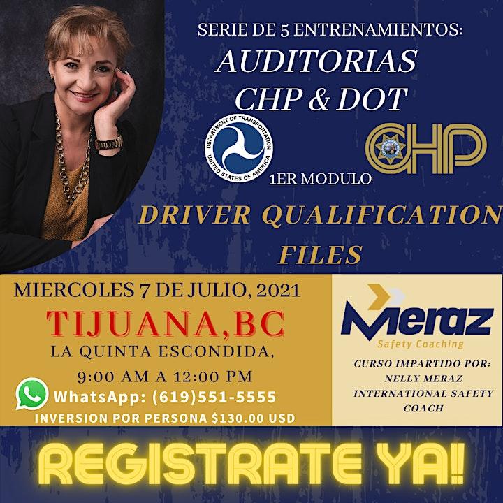 ENTRENAMIENTOS: AUDITORIAS CHP & DOT image