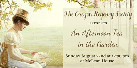 McLean House Afternoon Tea in the Garden tickets