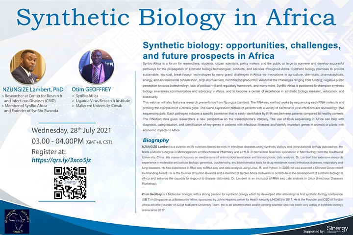 SINERGY Seminar Series – Synthetic Biology in Africa image