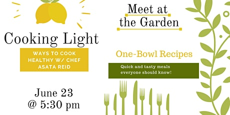 Cooking in the Garden with Chef Asata tickets