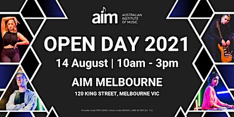 AIM Open Day | Melbourne Campus | 14 August tickets