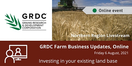 GRDC  North Livestream  6 August - Investing in your Existing Land Base ingressos