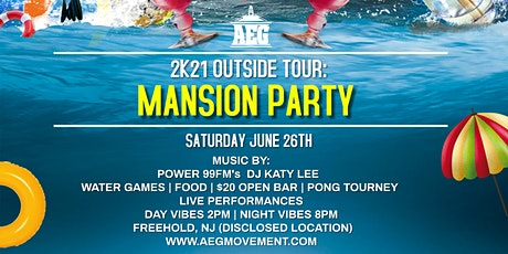 AEG 2K21 Outside Tour: Mansion Party tickets