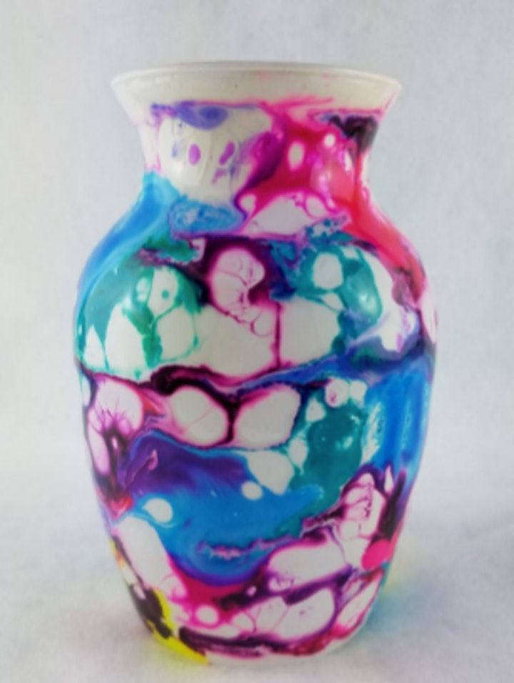 Alcohol Ink with Laurie- Alaska Midnight Vase image