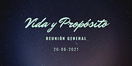 Reunión Vida y Propósito 20-06-2021 boletos