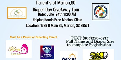 Diaper Day GiveAway Tour~ Marion County SC tickets