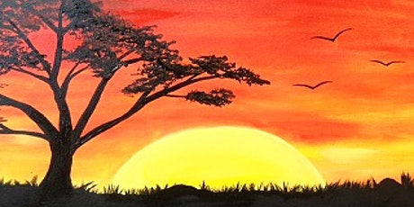 Sunset Landscape with Acrylics, Virtual Painting Class tickets