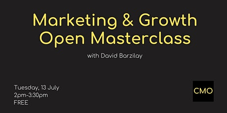 Marketing & Growth - Open Masterclass tickets