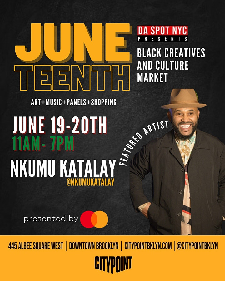BLACK CREATIVES + CULTURE MARKET AND ART SHOW: JUNETEENTH EDITION image