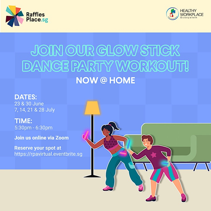 Glow Stick Dance Party Workouts - Now @ HOME! image