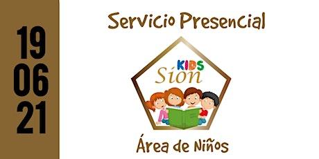 Servicio Presencial (Área de Niños) boletos