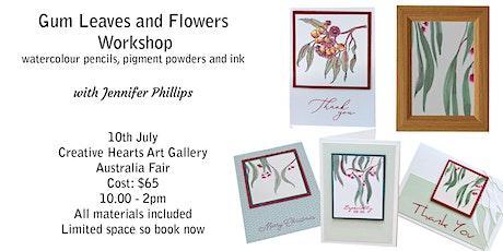 Gum Leaves & Flowers Watercolour Painting  Workshop tickets