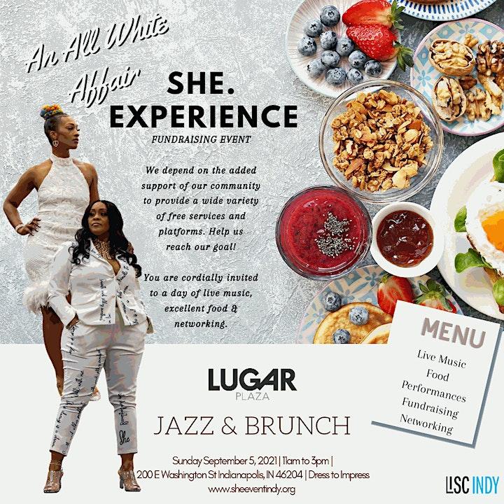SHE. Xperience  - ALL White Jazz Brunch - Ubuntu Celebration -  Lugar Plaza image