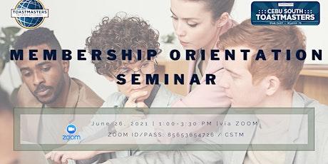 Membership Orientation Seminar tickets
