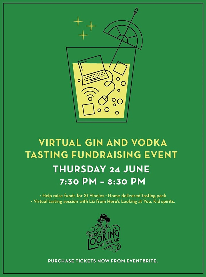 Virtual Gin and Vodka Tasting Event - St Vinnies Fundraiser image