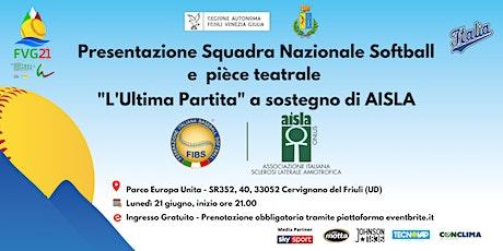 'L'Ultima Partita' per AISLA insieme a Italia Softball biglietti
