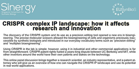 CRISPR complex IP landscape: how it affects research and innovation tickets