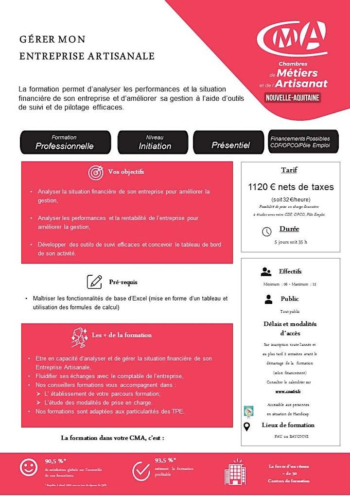 Image pour Stage GÉRER MON ENTREPRISE ARTISANALE (5jours)