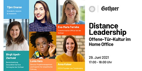 Distance Leadership - Offene-Tür-Kultur im Home Office | GDW x Gothaer Tickets