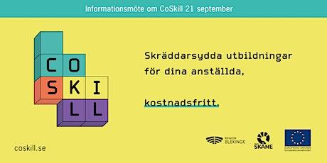 Kostnadsfria utbildningar för dina anställda –Informationsmöte om CoSkill biljetter