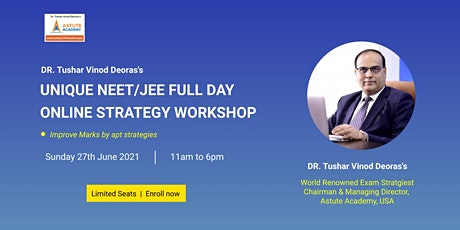 UNIQUE NEET/JEE FULL DAY ONLINE STRATEGY WORKSHOP tickets