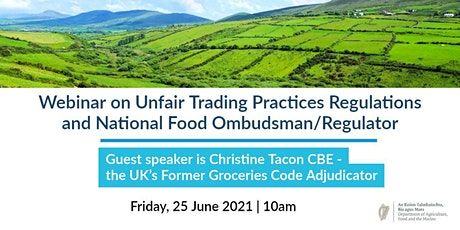 Information Webinar on UTP Regulations + National Food Ombudsman/Regulator tickets