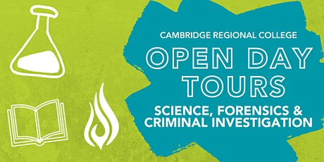 Science, Forensics & Criminal Investigation Open Day Tours tickets